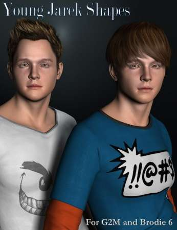 Young Jarek Shapes for Genesis 2 Male(s) and Brodie 6 HD