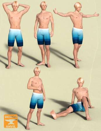 DA Variety Pose Pack for Genesis 3 Male & Michael 7